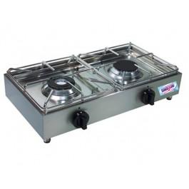 Cucina fornello professionale orizzontale 2 fuochi a gas - Fornelli da tavolo gas ...