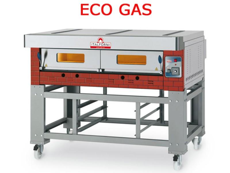 Forno pizza a gas modulare eco gas egb r rustico con - Forno gas per pizza ...