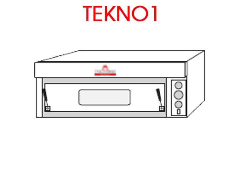 Forno pizza elettrico tekno1 t1b r rustico con piano di for Cottura pizza forno elettrico
