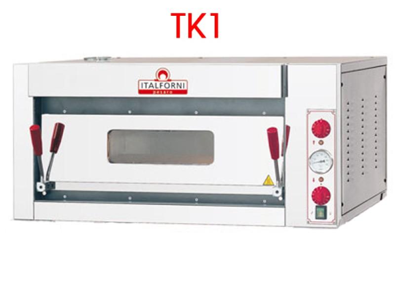 Forno pizza elettrico tka1 piano di cottura refrattario for Cottura pizza forno elettrico