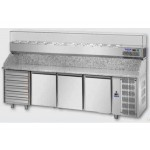BANCO PIZZA 3 PORTE 60x40 + CASSETTIERA