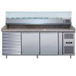 BANCO PIZZA 2 PORTE 60x40 + CASSETTIERA