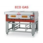 FORNO PIZZA A GAS MODULARE ECO GAS EGB/R (RUSTICO) CON PIANO DI COTTURA REFRATTARIO 1 CAMERA  L61XP94XH15