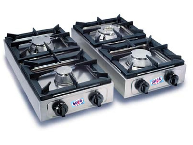 Cucina fornello professionale verticale 2 fuochi a gas in - Cucine a gas metano ...
