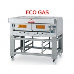 FORNO PIZZA A GAS MODULARE ECO GAS EGB/I (INOX) CON PIANO DI COTTURA REFRATTARIO 1 CAMERA  L61XP94XH15