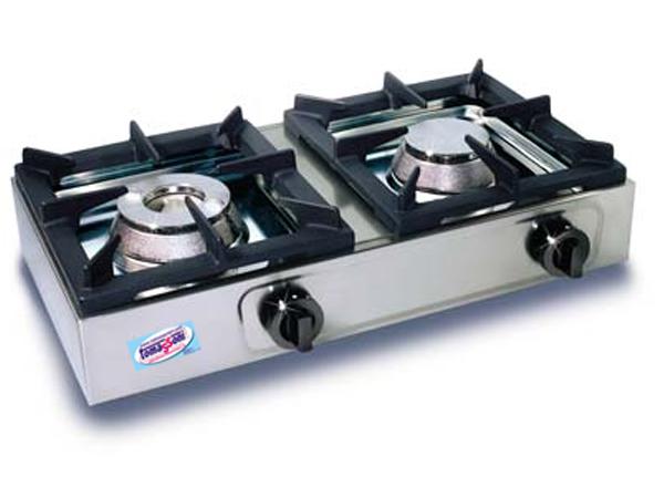 Cucina fornello professionale orizzontale 2 fuochi a gas in ghisa attrezzature per bar e - Prezzo gas gpl casa ...