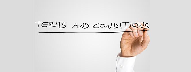 termini e condizioni da leggere con attenzione